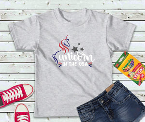 Unicorn in the USA Shirt, Kids T-Shirt, Unicorn Shirt - Lake Erie Goods