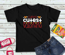 Load image into Gallery viewer, Cupid's Cutest Valentine T-Shirt, Valentines Day Shirt, Kids Shirt
