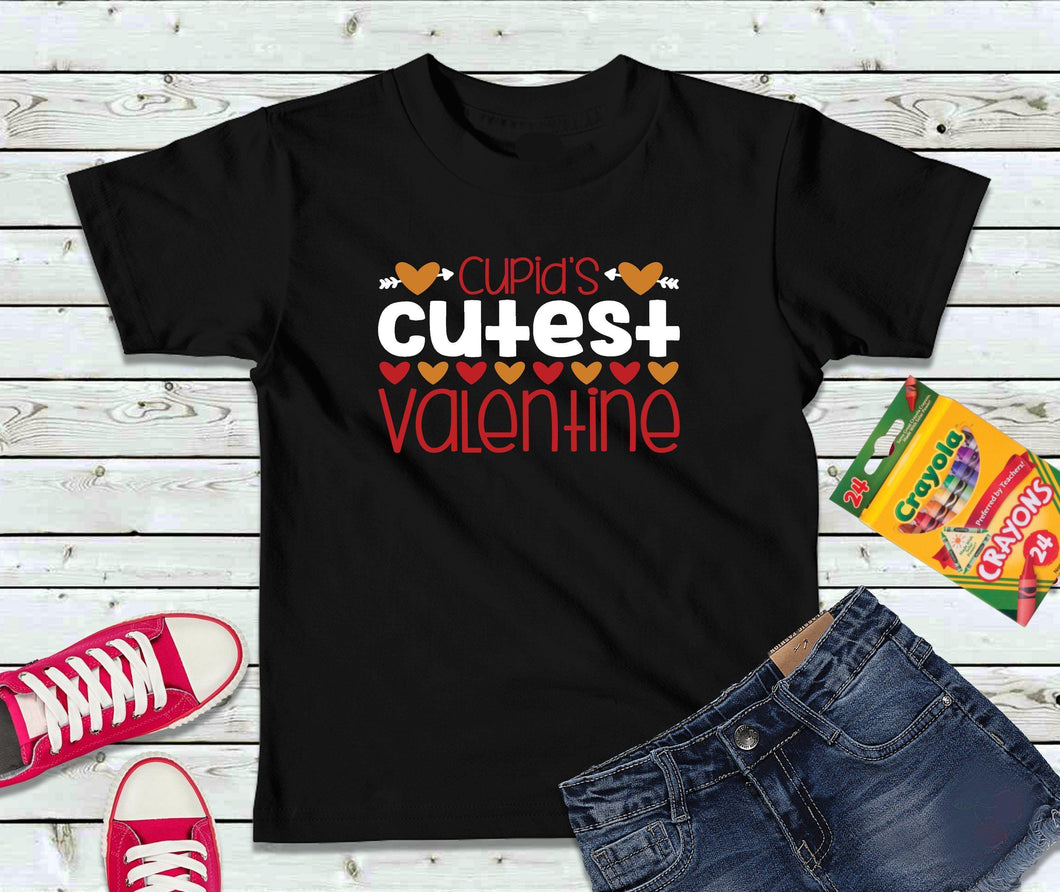 Cupid's Cutest Valentine T-Shirt, Valentines Day Shirt, Kids Shirt