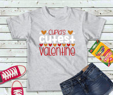 Load image into Gallery viewer, Cupid's Cutest Valentine T-Shirt, Valentines Day Shirt, Kids Shirt - Lake Erie Goods