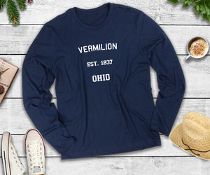 Vermilion Ohio Est. 1837, Long Sleeve Shirt, Vermilion Ohio T-Shirt
