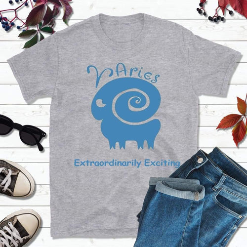 Aries T-Shirt, Star Sign Symbols, Astrology Sign T-Shirt, Extraordinarily Exciting - Lake Erie Goods