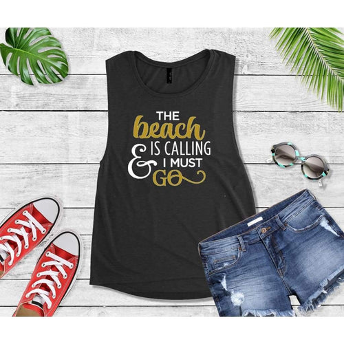 Beach is Calling & I Must Go, Beach Life T-Shirt, Beach Wear, Vacation Shirt