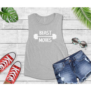 Beast Moves T-Shirt, New Year's Resolution Shirt, Workout Tops