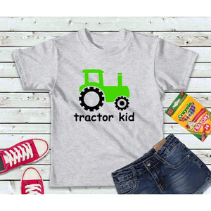 Boys Shirt, Kids Shirt, Tractor Kid Shirt
