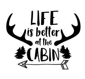 Life is Better at the Cabin Shirt, Cabin T-Shirt, Cabin Gifts - Lake Erie Goods
