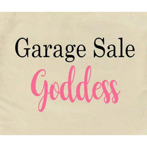 Canvas Tote Bags, Large Tote Bag, Garage Sale Goddess