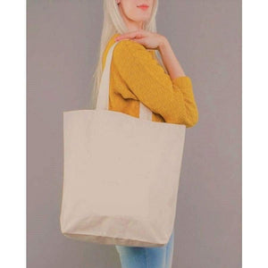 Canvas Tote Bags, Large Tote Bag, Groceries (Mostly Wine)