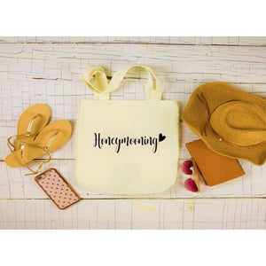 Canvas Tote Bags, Wedding Totes, Honeymooning