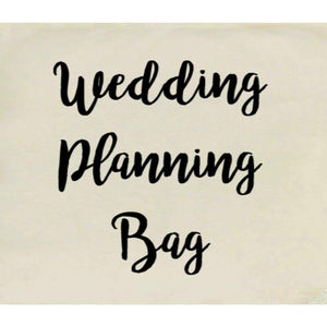 Canvas Tote Bags, Wedding Totes, Wedding Planning Bag