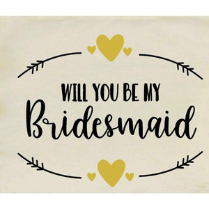 Canvas Tote Bags, Wedding Totes, Will You Be My Bridesmaid
