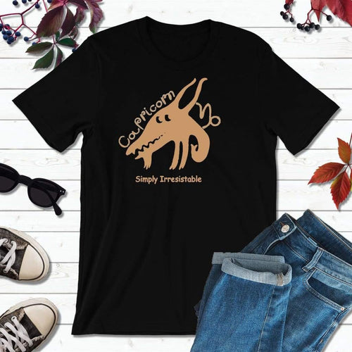 Capricorn T-Shirt, Star Sign Symbols, Astrology Sign T-Shirt, Simply Irresistible