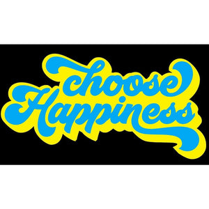 Choose Happiness 70's T-Shirt Vintage Retro Style