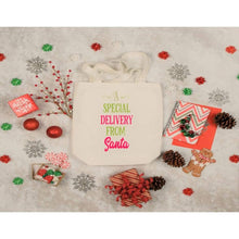 Load image into Gallery viewer, Christmas Canvas Tote Bags, Special Delivery From Santa, Large Tote Bag