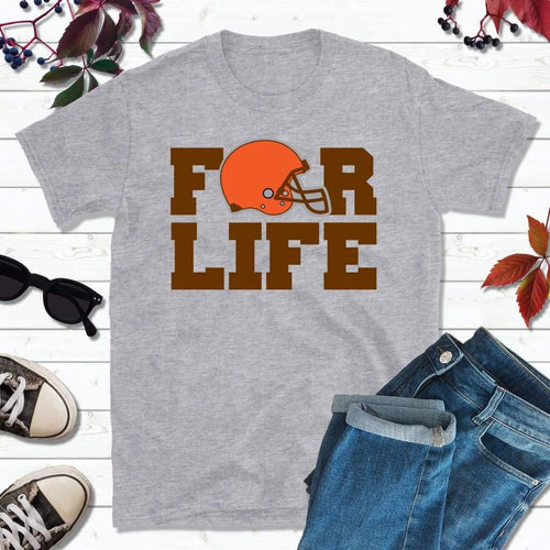 Cleveland Football Shirt, Browns T-Shirt, For Life