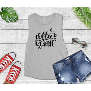 Coffee is My Cardio T-Shirt, New Year's Resolution Shirt, Workout Tops