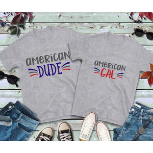 Couples Shirts, American Gal and American Dude Shirts