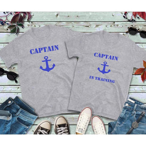 Couples Shirts, Captain and Captain in Training Shirt