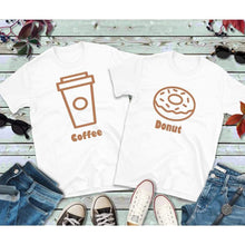 Load image into Gallery viewer, Couples Shirts, Coffee and Donut Shirts