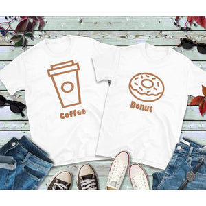 Couples Shirts, Coffee and Donut Shirts