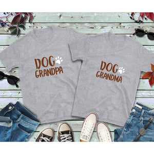 Couples Shirts, Dog Grandpa and Dog Grandma Shirts