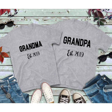 Load image into Gallery viewer, Couples Shirts, Grandma and Grandpa Shirts, Established