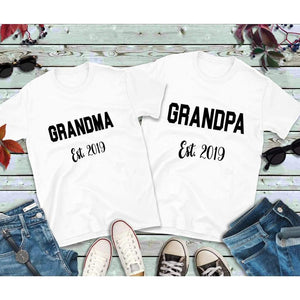 Couples Shirts, Grandma and Grandpa Shirts, Established