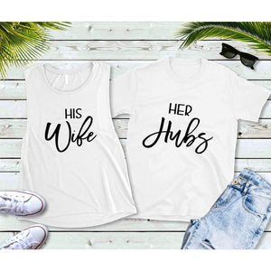 Couples Shirts, Hubs and Wife Shirts