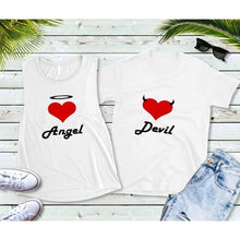 Load image into Gallery viewer, Couples Shirts Matching Shirts Angel and Devil Shirts