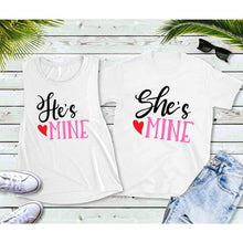 Load image into Gallery viewer, Couples Shirts, Matching Shirts, He's Mine She's Mine