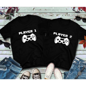 Couples Shirts Player 1 Player 2