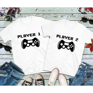 Couples Shirts, Youth Shirt, Player 1 Player 2