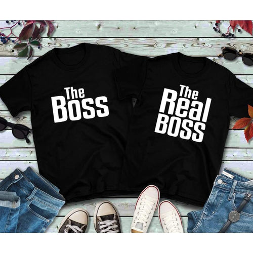 Couples Shirts, The Boss, The Real Boss
