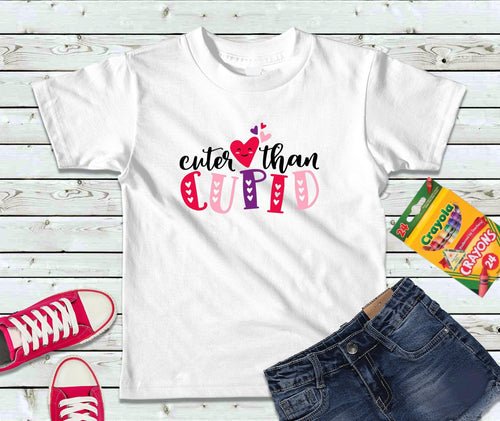 Little Miss Cuter Than Cupid Shirt for Valentines Day Shirt Personalized Gift for Girl