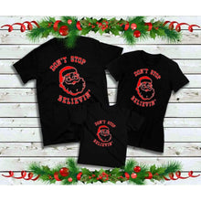 Load image into Gallery viewer, Don't Stop Believin' Shirts, Family Christmas Shirts
