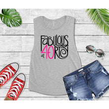 Load image into Gallery viewer, Fabulous at 40 Birthday Sayings Shirt, Birthday Gift