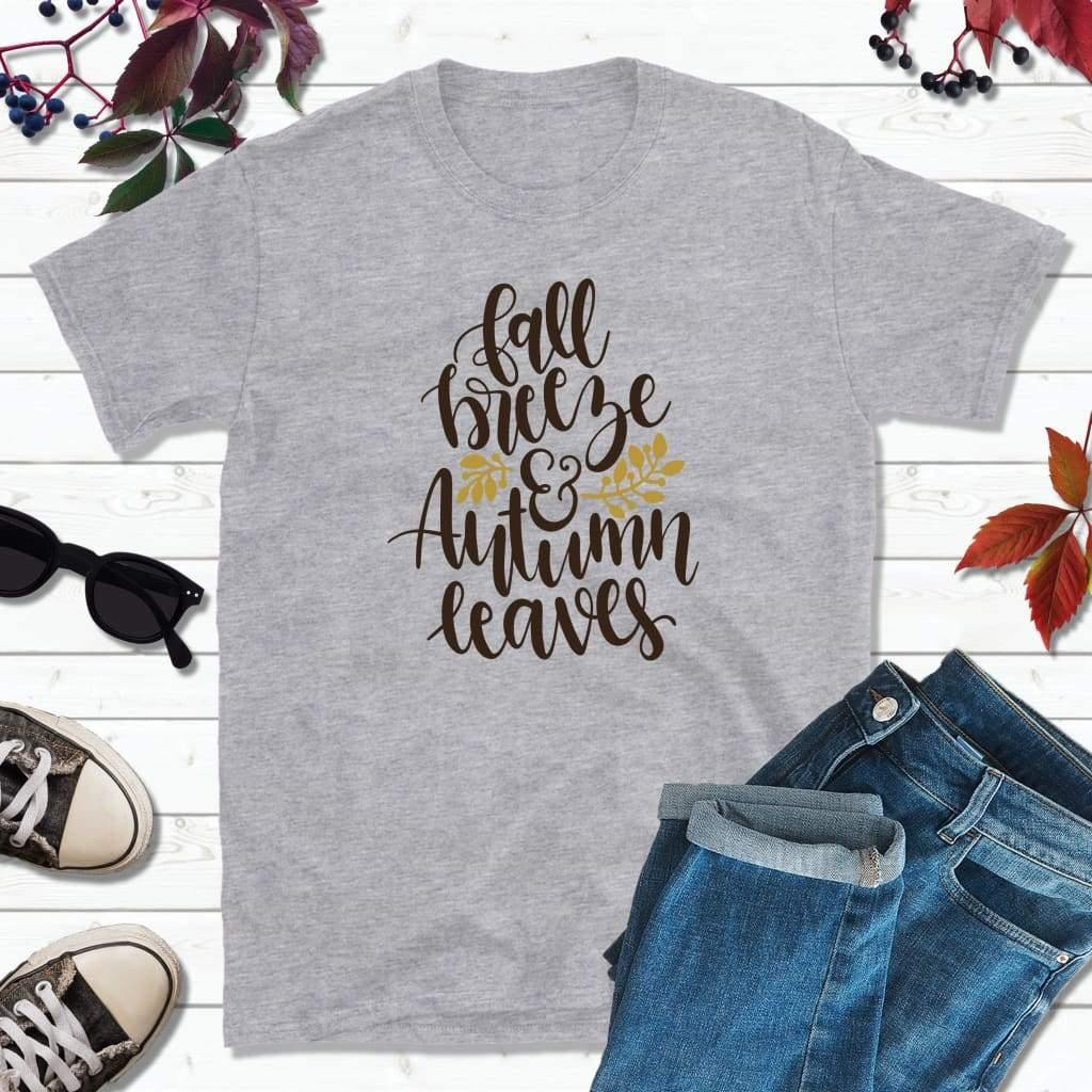 Fall Breeze and Autumn Leaves, Fall Shirt, Autumn T-Shirt