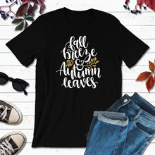 Load image into Gallery viewer, Fall Breeze and Autumn Leaves, Fall Shirt, Autumn T-Shirt