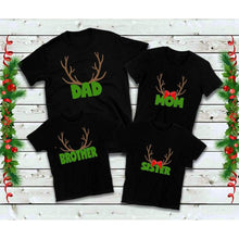 Load image into Gallery viewer, Family Reindeer Antler Shirts Family Christmas Shirts