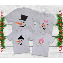 Load image into Gallery viewer, Family Snowmen Shirts Family Christmas Shirts