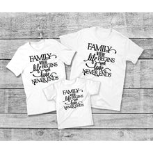 Load image into Gallery viewer, Family Where Life Begins Love Never Ends T-Shirt, Family Matching Shirts