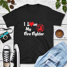 Load image into Gallery viewer, Firefighter Shirt Wife, I Love My Love Firefighter Shirt