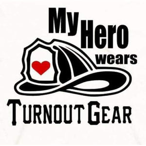 Firefighter Shirt Wife, My Hero Wears Turn Out Gear Shirt