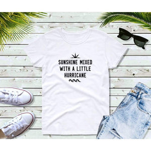 Funny T-Shirt Sunshine Mixed With a Little Hurricane Shirt