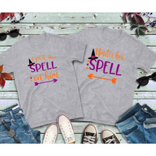 Load image into Gallery viewer, Halloween Couples Shirts Spell on Him Shirt Under Her Spell