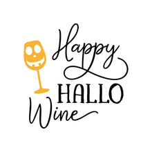 Load image into Gallery viewer, Happy Hallo Wine Halloween Shirt Funny Halloween T-Shirt