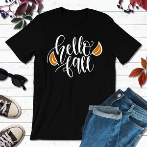 Hello Fall T-Shirt Fall Shirt Autumn T-Shirt