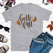 Load image into Gallery viewer, Hello Fall T-Shirt Fall Shirt Autumn T-Shirt