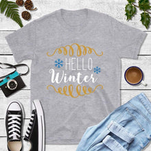 Load image into Gallery viewer, Holiday Shirt Hello Winter Shirt