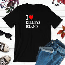 Load image into Gallery viewer, Kelley's Island Ohio Shirt, Lake Erie T-Shirt, I Love Kelley's Island